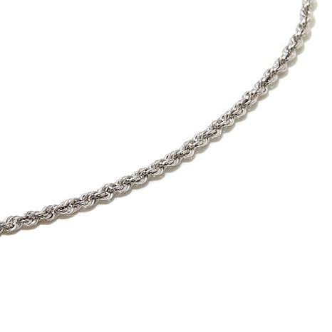 "Michael Anthony® 10K White Gold 16"" Rope Chain"