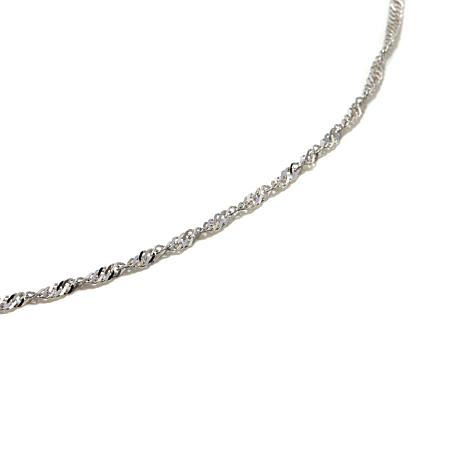 "Michael Anthony® 10K White Gold 16"" Singapore Chain"