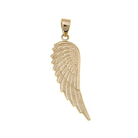 com gold diamond quot cttw dp angel amazon white wing necklace pendant accented