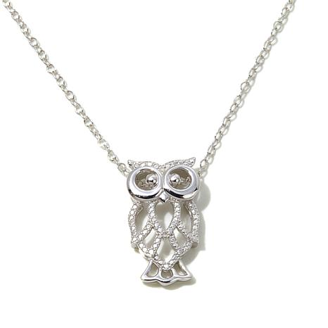 Michael Anthony™ Diamond-Accented Owl Cutout Necklace