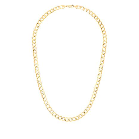 "Michael Anthony Jewelry® 10K 20"" 7mm Curb Link Chain Necklace"