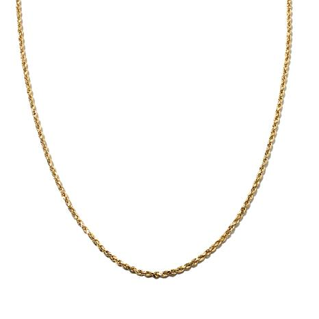 "Michael Anthony Jewelry® 10K 30"" Radiant  Rope Chain"