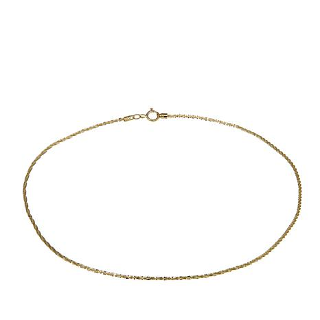 "Michael Anthony Jewelry® 10K Brilliant Chain 10"" Anklet"