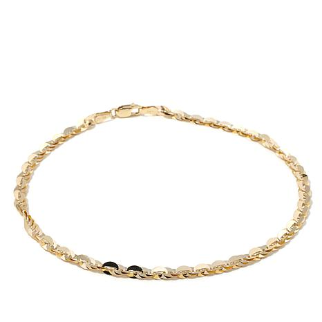 "Michael Anthony Jewelry® 10K Cleo Link 9"" Anklet"