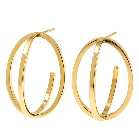 Michael Anthony Jewelry® 10K Criss Cross Oval Earrings