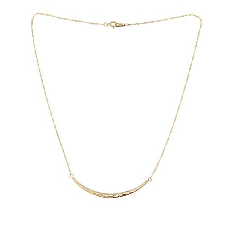 "Michael Anthony Jewelry®  10K Curved Bar 18"" Necklace"