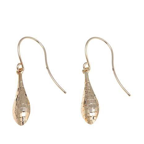 Michael Anthony Jewelry® 10K Diamond-Cut Drop Earrings