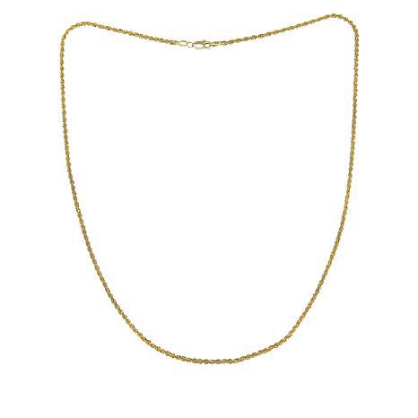 "Michael Anthony Jewelry® 10K Diamond-Cut Glitter Rope 18"" Necklace"