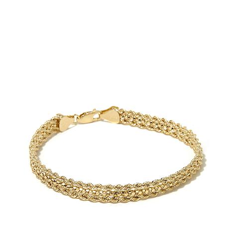 Michael Anthony Jewelry 10k Double Rope Chain Bracelet