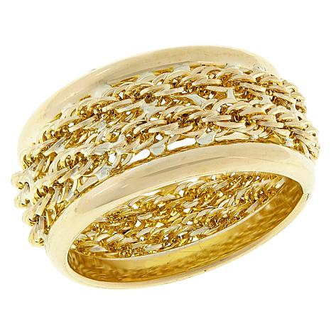 Michael Anthony Jewelry® 10K Double Row Rope Chain Band Ring