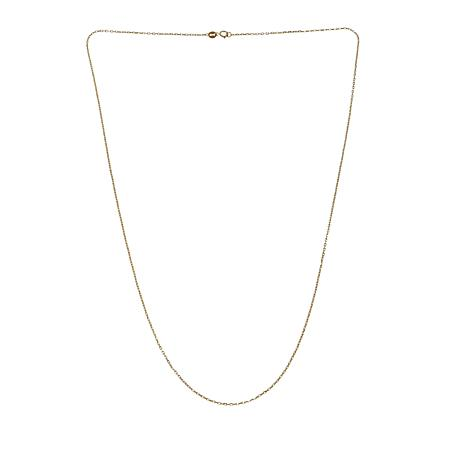 "Michael Anthony Jewelry® 10K Gold Trapesium Chain 22"" Necklace"