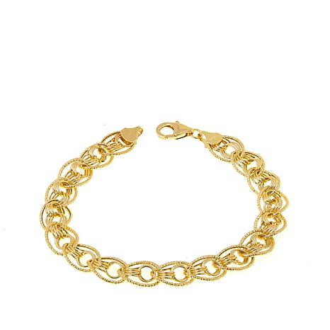 "Michael Anthony Jewelry® 10K Oval/Circle Link 7-1/2"" Bracelet"