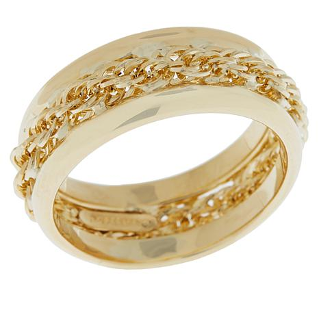 Michael Anthony Jewelry® 10K Rope Chain Band Ring