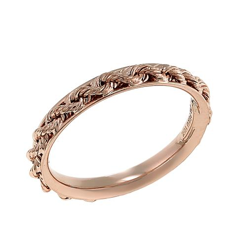 Michael Anthony Jewelry® 10K Rose Gold Rope Chain Band Ring