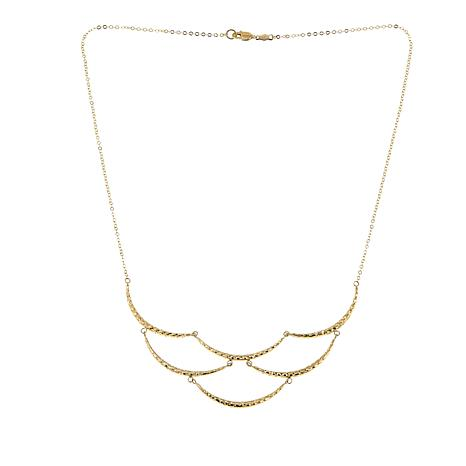 "Michael Anthony Jewelry® 10K Scalloped 16-7/8"" Necklace"