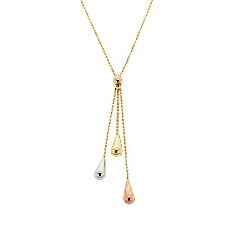 Michael Anthony Jewelry® 10K Tri-Color Tassel Drop Necklace