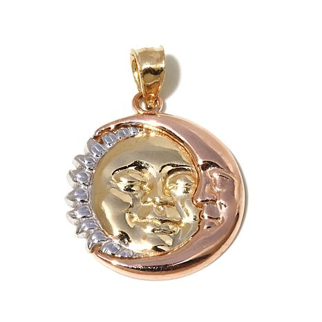 Michael Anthony Jewelry® 10K Tri-tone Sun/Moon Pendant