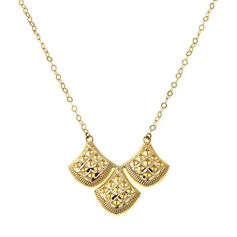Michael Anthony Jewelry® 10K Triple Fan Necklace