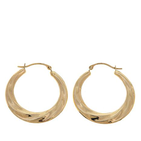 Michael Anthony Jewelry® 10K Wavy Hoop Earrings