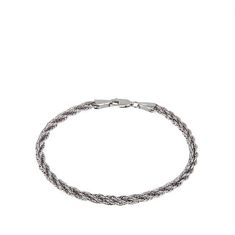 947f71167b786 Michael Anthony Jewelry® 10K White Gold Twisted Rope Chain 7-1/4