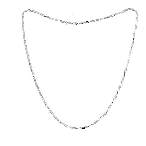 "Michael Anthony Jewelry® 10K White Gold Cleo Chain 22"""