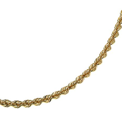 "Michael Anthony Jewelry® 14K Gold 3mm Rope Chain 16"" Necklace"