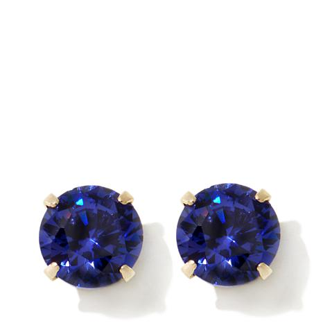 Michael Anthony Jewelry® 14K Kids Sapphire-Color CZ Stud Earrings