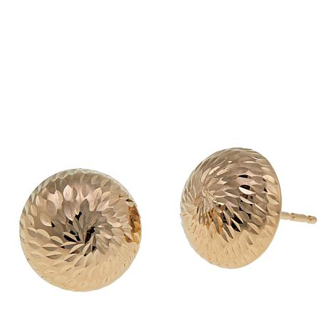 Michael Anthony Jewelry® 14K Sunburst Dome Stud Earrings