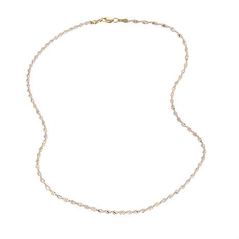 "Michael Anthony Jewelry® 2-Tone Glitter Lace 16"" Chain Necklace"