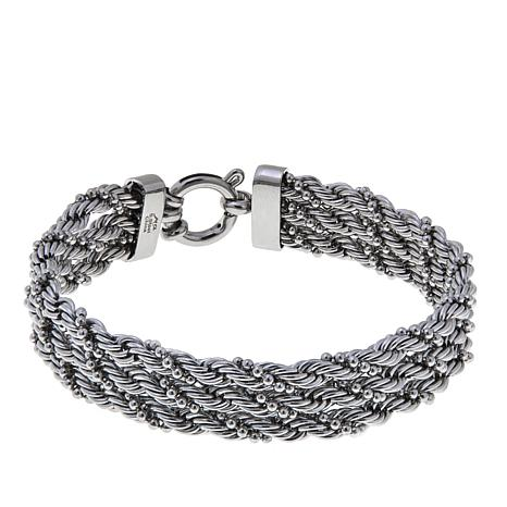 chains twisted qyii twist bail sterling il etsy rope silver chunky chain heavy market