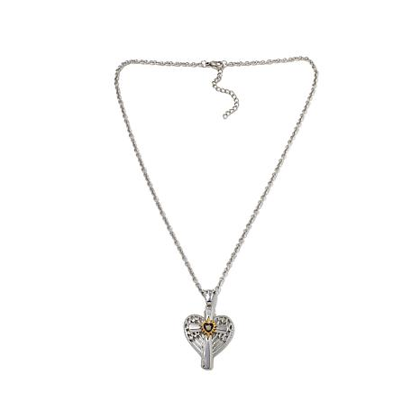 Michael Anthony Jewelry® Nativity Stone Heart Pendant