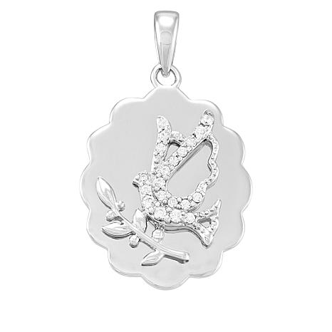 Michael Anthony Jewelry® Sterling Silver CZ Dove Pendant
