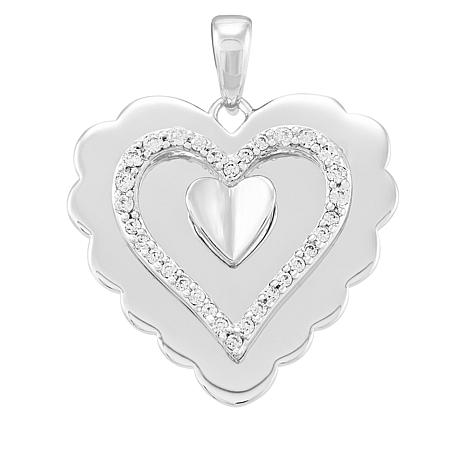 Michael Anthony Jewelry® Sterling Silver CZ Heart Pendant