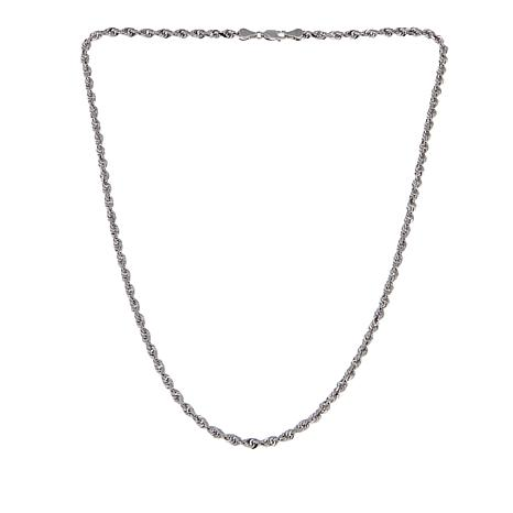 """Michael Anthony Jewelry® Sterling Silver Glitter Rope Chain - 20"""""""