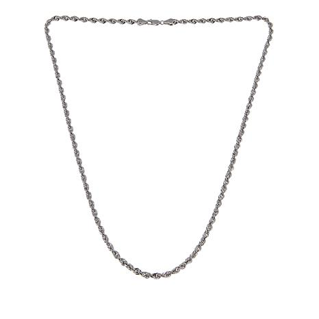 Michael Anthony Jewelry® Sterling Silver Glitter Rope Chain - 22""