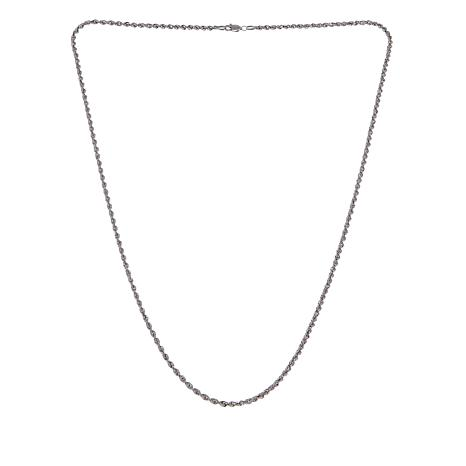 """Michael Anthony Jewelry® Sterling Silver Rope Chain 22"""" Necklace"""