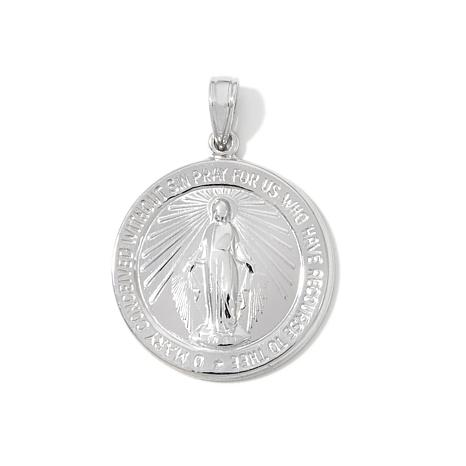 """Michael Anthony® """"Miraculous"""" Silver Medal Pendant"""