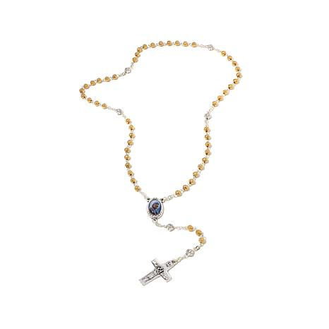 Michael Anthony® Mother Teresa 2-Tone Bead Rosary