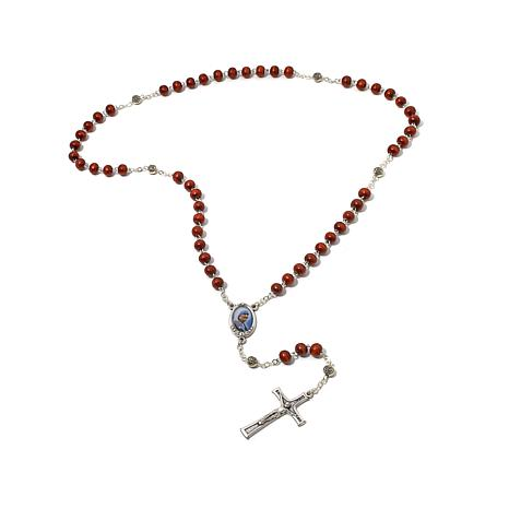 Michael Anthony® Mother Teresa Wood Bead Rosary