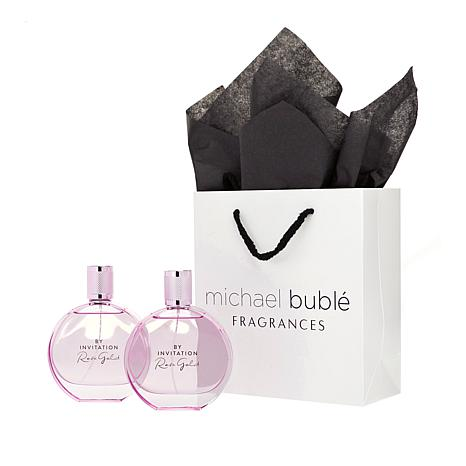 Michael Buble By Invitation Rose Gold 3.4 oz. EDP 2-pack with Gift Bag