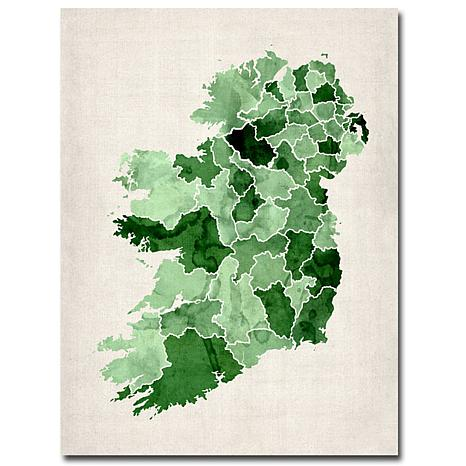 Michael Tompsett 'Ireland Watercolor' Giclee Print