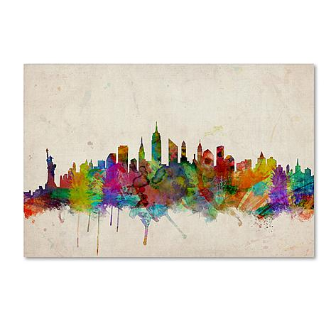 "Michael Tompsett ""New York Skyline"" Art - 14"" x 19"""