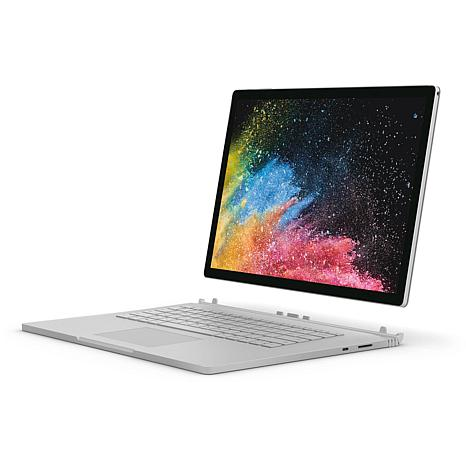 """Microsoft Surface Book 2 15"""" Core i7 16GB 512G 2-in-1 Laptop - Silver"""