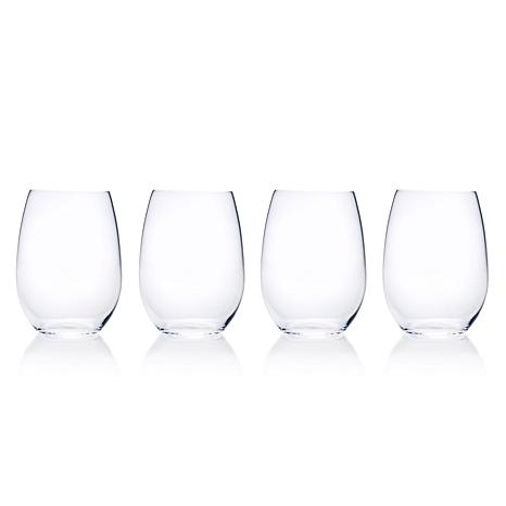 Mikasa Laura Set of 4 Stemless Wine Glasses