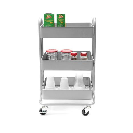 Mind Reader Whirl Heavy Duty 3 Tier Utility Cart   8536345 | HSN