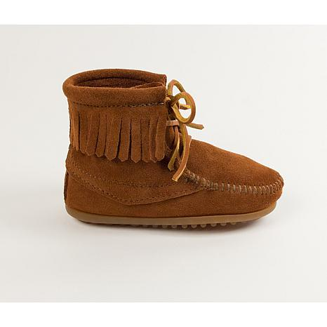 Minnetonka Child's Suede Fringe Tamper Boot