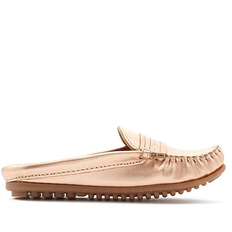 Minnetonka Kate Leather Mule Loafer
