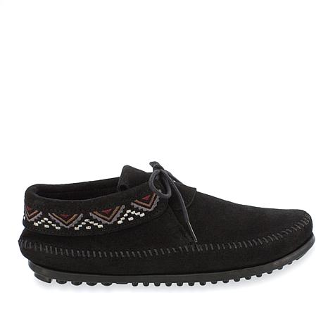Minnetonka Mosaic Suede Embroidered Moccasin