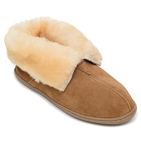 Minnetonka Suede Sheepskin Ankle Boot