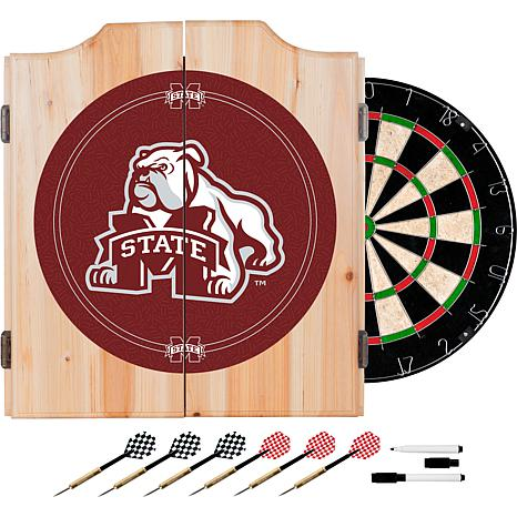 Mississippi State Univ Dart Cabinet w/ Darts and Board
